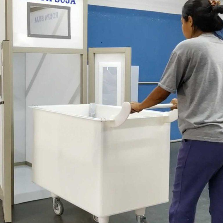 carrinho cuba de plastico pead para lavanderia macam brasil
