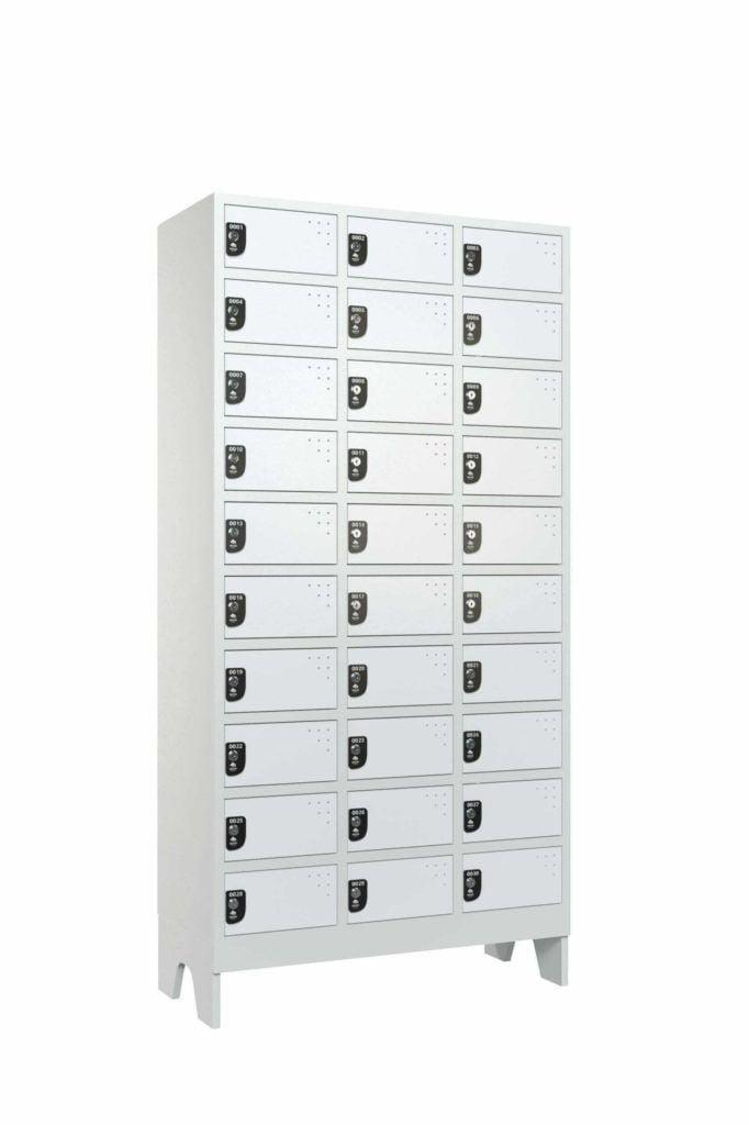 @macam118 armario colmeia guarda volumes reposicao de uniforme lavanderia 10x3 branco