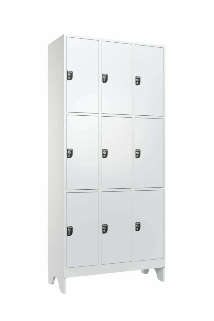 armario macam brasil 10091 roupeiro 9 usuarios com 1 divisoria branco