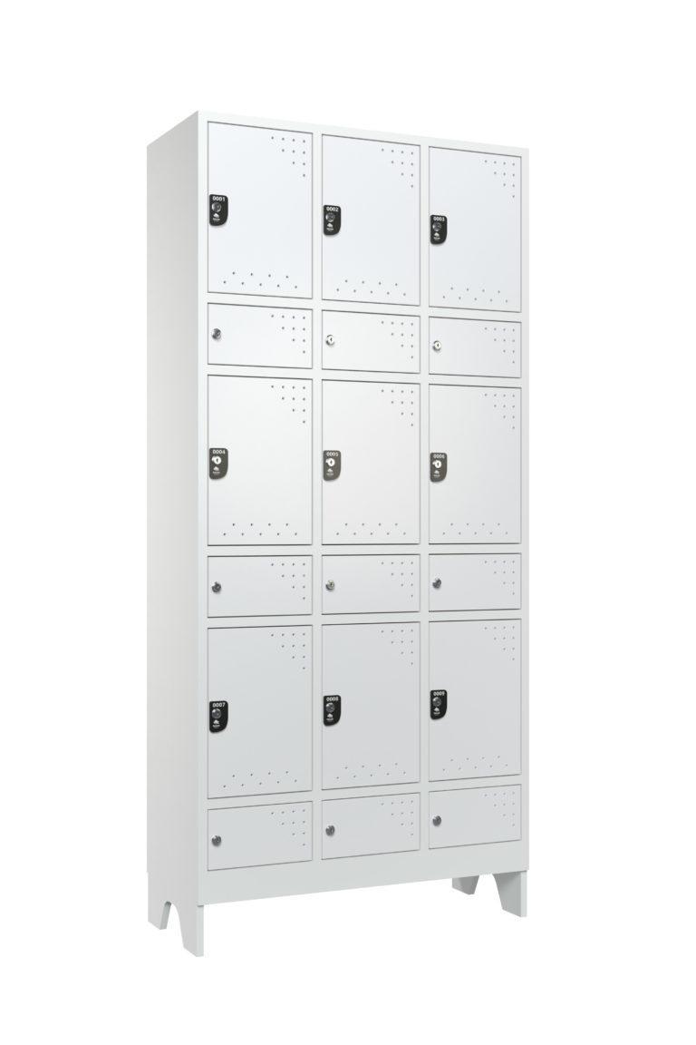 armario para vestiario macam braisl 9 usuarios 3colunas compartimento para epi civil 3x3 lateral