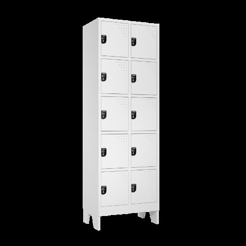 armario para vestiario multiuso 10 portas 2 colunas mc00000 lateral fechado 500x500