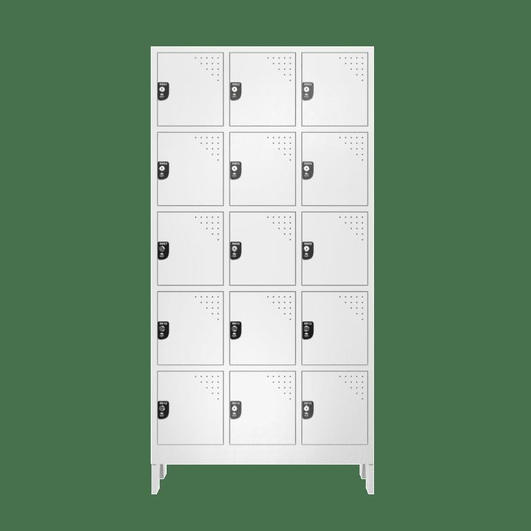 armario para vestiario multiuso 15 portas 3 colunas mc00000 frontal fechado 2000x2000
