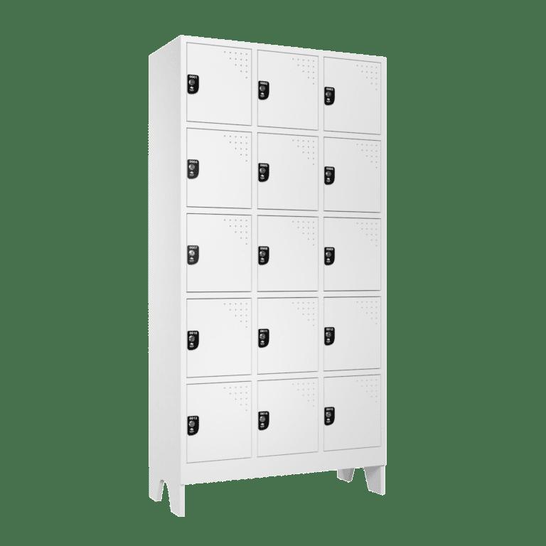 armario para vestiario multiuso 15 portas 3 colunas mc00000 lateral fechado 2000x2000