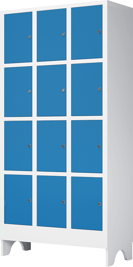 armario multiuso macam brasil azul 12 portas em polipropileno e abs resistente garantia de 10 anos