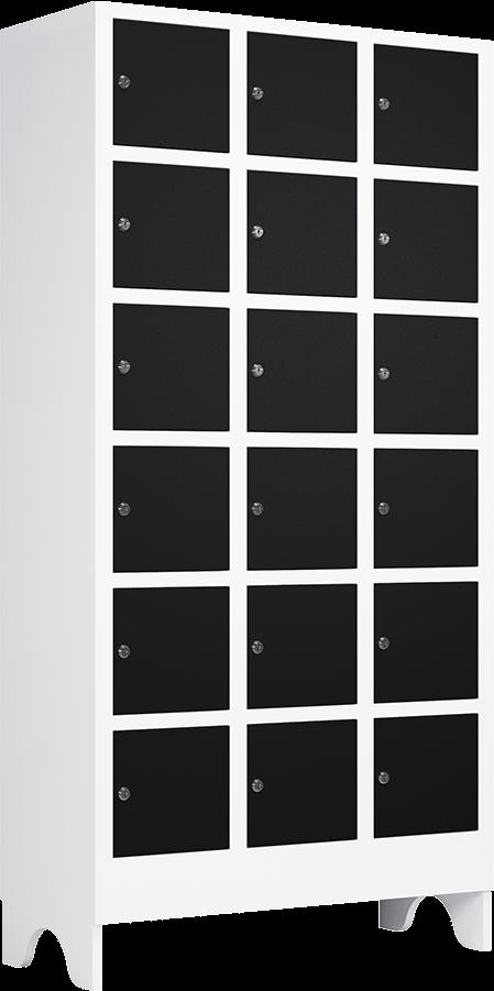 armario para vestiario portas pretas em plastico de engenharia nao enferruja nr24 macam brasil