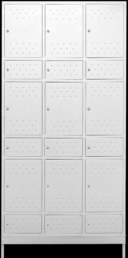 armario plastico para vestiario macam brasil 9 usuarios com compartimento para epi norma nr24 branco
