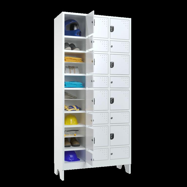 armario para vestiario civil para epi 12 usuarios 3 coluna lateral aberto 2000x2000 1