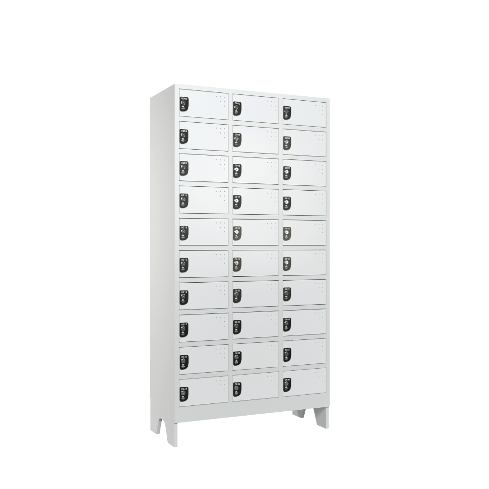 armario para vestiario colmeia lavanderia 10 portas por coluna 3 colunas 30 portas lateral fechado 1000x1000 1