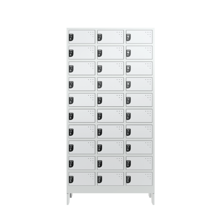 armario para vestiario colmeia lavanderia 10 portas por coluna 3 colunas 30 portas frontal fechado 2000x2000 1