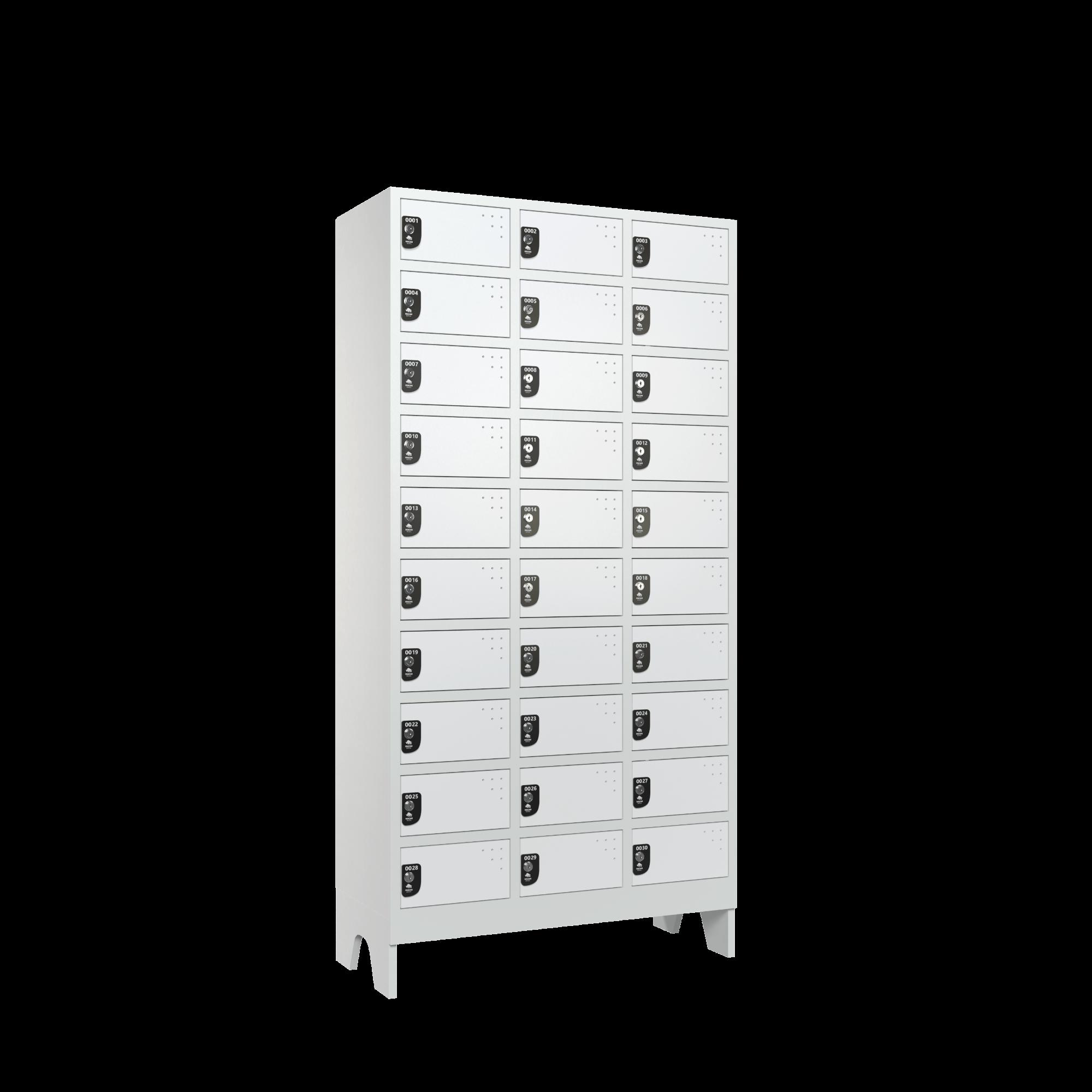 armario para vestiario colmeia lavanderia 10 portas por coluna 3 colunas 30 portas lateral fechado 2000x2000 1