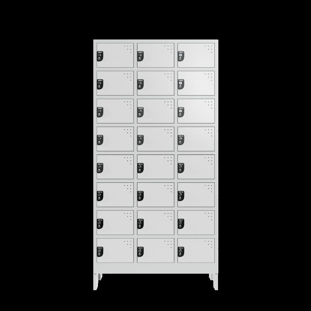armario para vestiario colmeia lavanderia 8 portas por coluna 3 colunas 24 portas frontal fechado 1000x1000 1