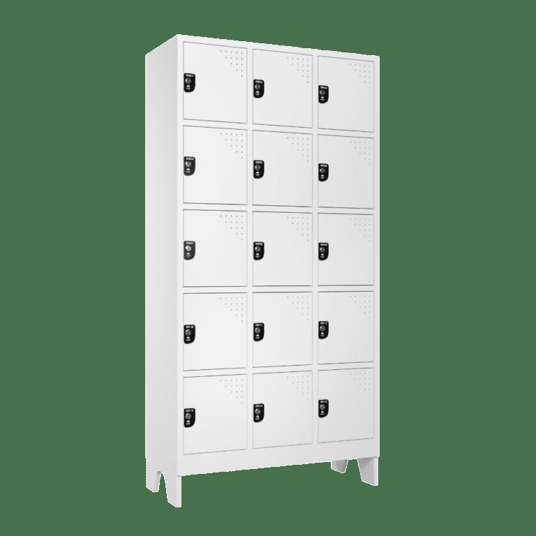 armario para vestiario multiuso 15 portas 3 colunas 5 portas por coluna macam brasil lateral fechado 1000x1000 1
