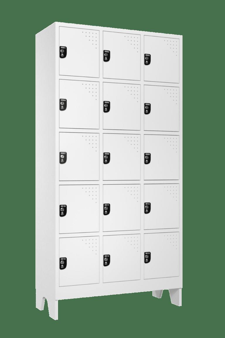 armario para vestiario multiuso 15 portas 3 colunas 5 portas por coluna lateral fechado 1000x1500 1