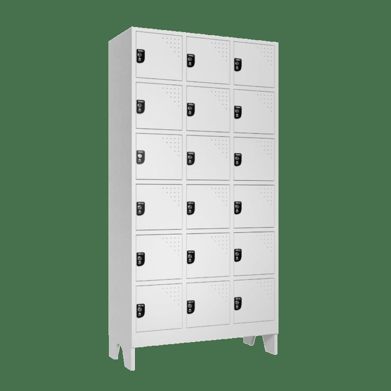 armario para vestiario multiuso 18 portas 3 colunas 6 portas por coluna lateral fechado 1000x1000 1
