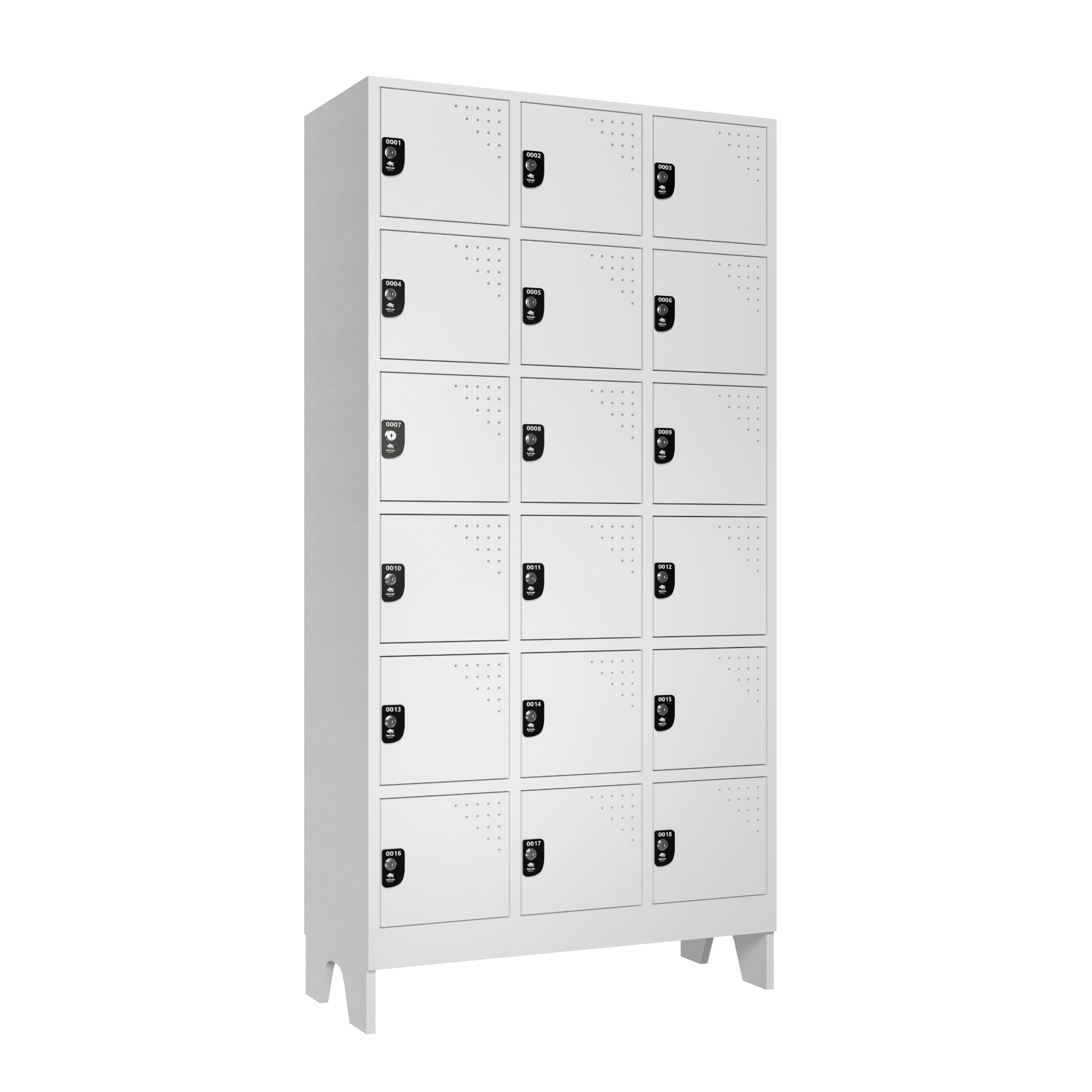 armario para vestiario multiuso 18 portas 3 colunas 6 portas por coluna lateral fechado 2000x2000 1