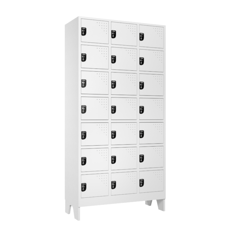 armario para vestiario multiuso 21 portas 3 coluna 7 portas por coluna lateral fechado 1000x1000 1