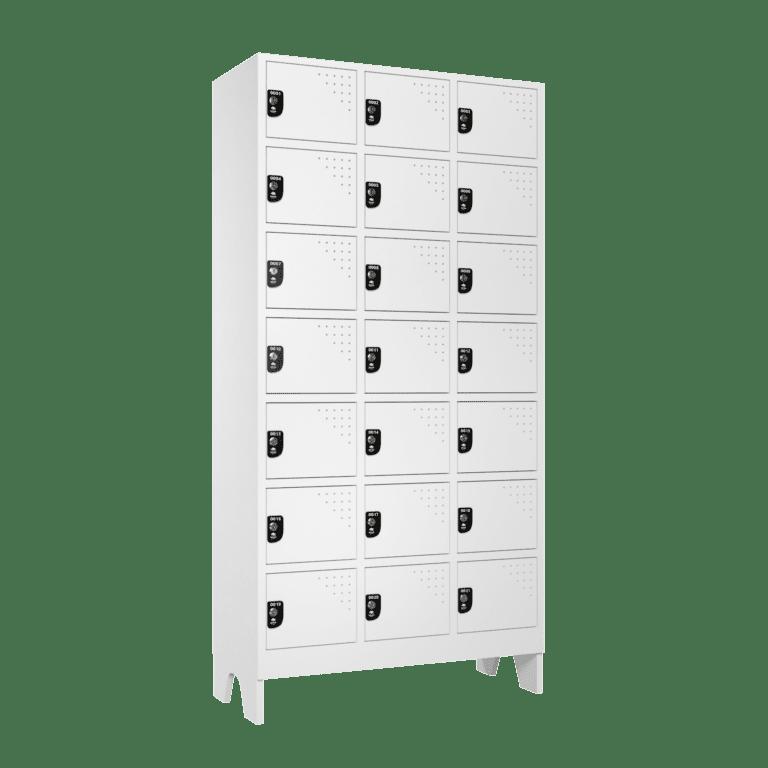 armario para vestiario multiuso 21 portas 3 coluna 7 portas por coluna lateral fechado 2000x2000 1
