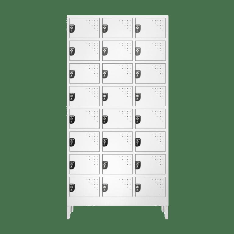 armario para vestiario multiuso 24 portas 3 coluna 8 portas por coluna frontal fechado 2000x2000 1