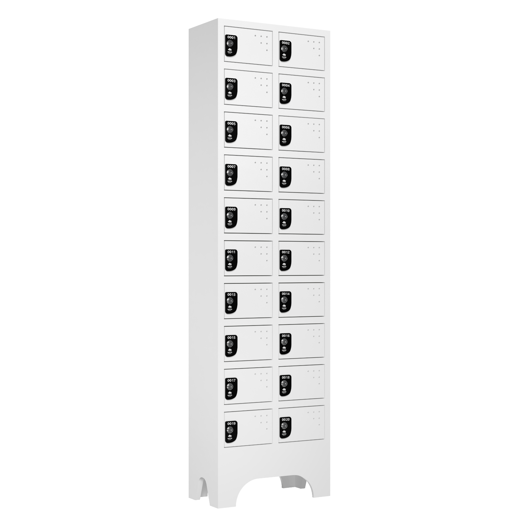 armario para vestiario porta objetos 10 portas por coluna 2 colunas 20 portas 2000x2000 1