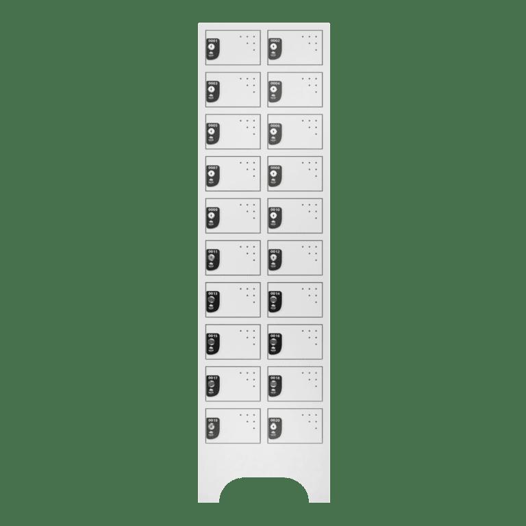 armario para vestiario porta objetos 10 portas por coluna 2 colunas 20 portas frontal fechado 2000x2000 1