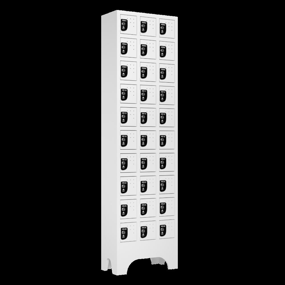 armario para vestiario porta objetos 10 portas por coluna 3 colunas 30 portas lateral fechado 1000x1000 1