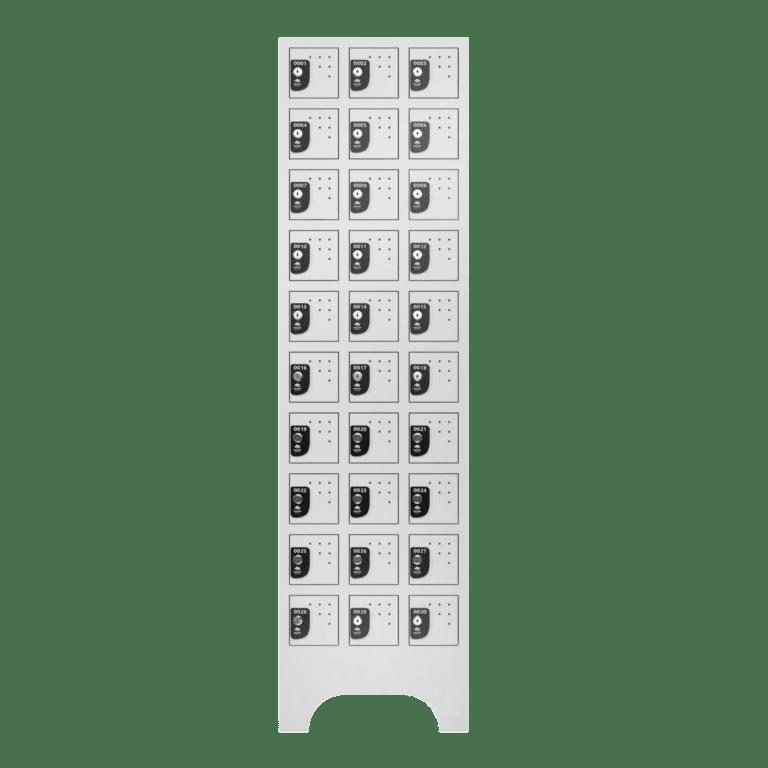 armario para vestiario porta objetos 10 portas por coluna 3 colunas 30 portas frontal fechado 2000x2000 1