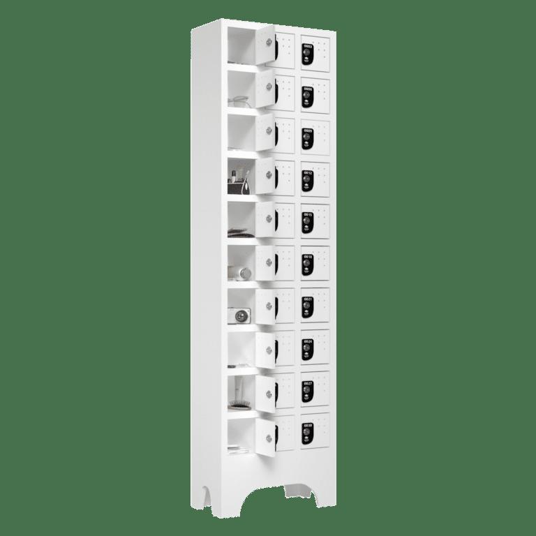 armario para vestiario porta objetos 10 portas por coluna 3 colunas 30 portas lateral aberto 2000x2000 1