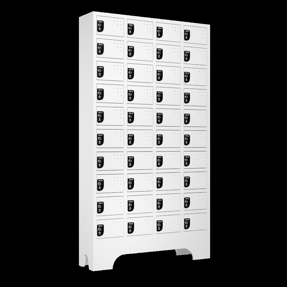 armario para vestiario porta objetos 10 portas por coluna 4 colunas 40 portas lateral fechado 1000x1000 1