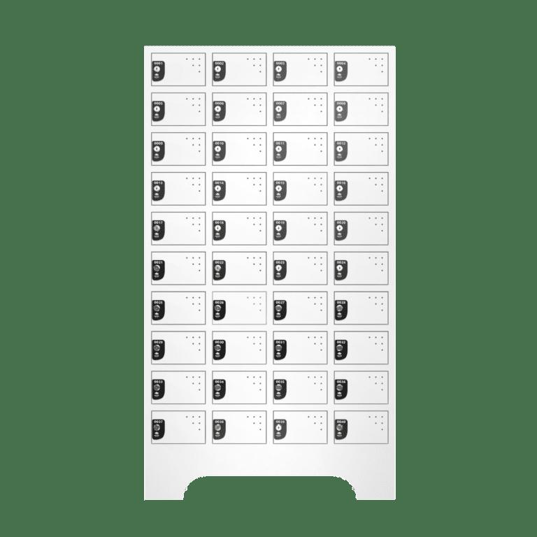 armario para vestiario porta objetos 10 portas por coluna 4 colunas 40 portas frontal fechado 2000x2000 1