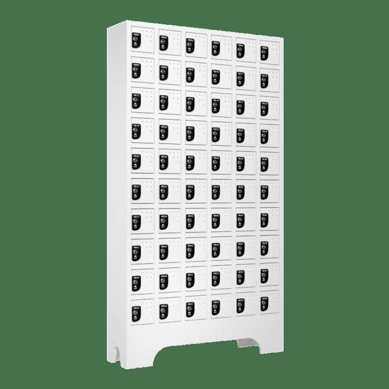 armario para vestiario porta objetos 10 portas por coluna 6 colunas 60 portas lateral fechado 1000x1000 1