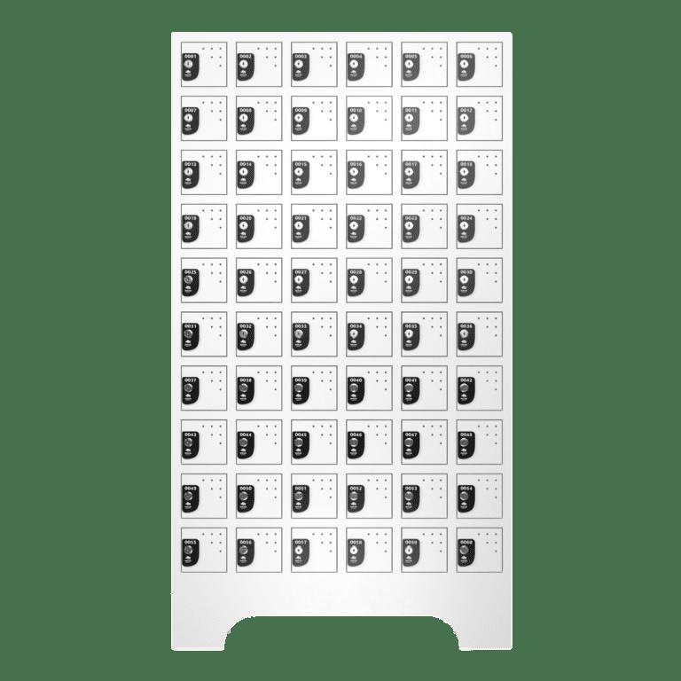 armario para vestiario porta objetos 10 portas por coluna 6 colunas 60 portas frontal fechado 2000x2000 1