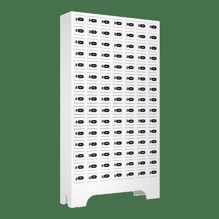 armario para vestiario porta objetos 105 portas 7 colunas 15 portas por coluna lateral fechado 1000x1000 1