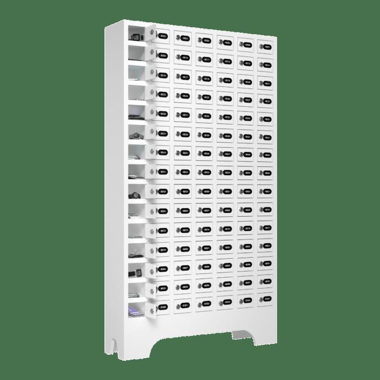 armario para vestiario porta objetos 105 portas 7 colunas 15 portas por coluna macam brasil lateral aberto 1000x1000 1