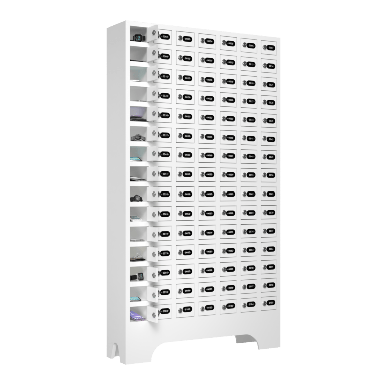 armario para vestiario porta objetos 105 portas 7 colunas 15 portas por coluna macam brasil lateral aberto 2000x2000 1