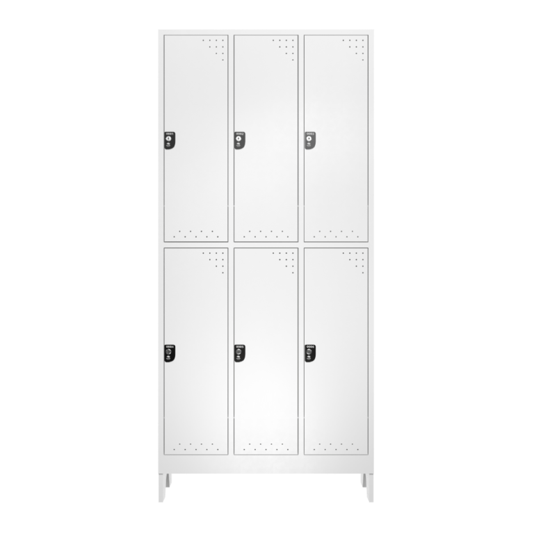 armario para vestiario roupeiro 6 portas 3 coluna 2 portas por coluna