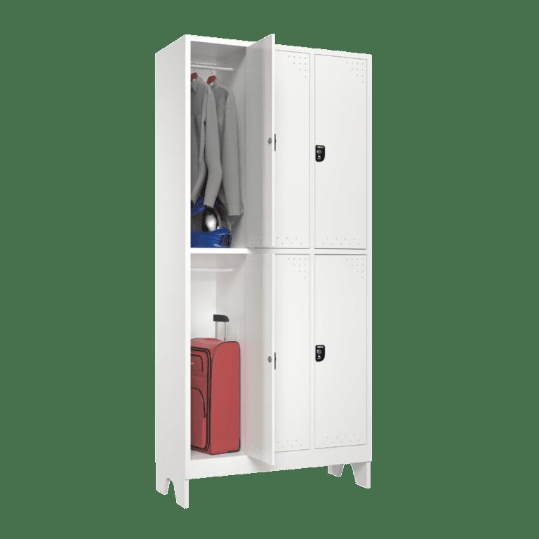 armario para vestiario roupeiro 6 portas 3 coluna 2 portas por coluna sem prateleira lateral aberto 1000x1000 1