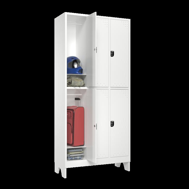 armario para vestiario roupeiro 6 portas 3 coluna 2 portas por coluna com prateleira lateral aberto 2000x2000 1