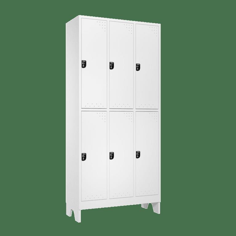 armario para vestiario roupeiro 6 portas 3 coluna 2 portas por coluna lateral fechado 2000x2000 1