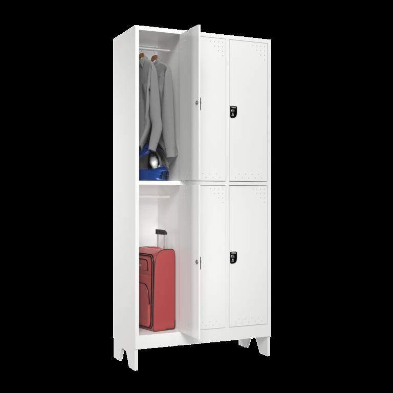 armario para vestiario roupeiro 6 portas 3 coluna 2 portas por coluna sem prateleira lateral aberto 2000x2000 1