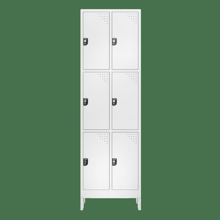 armario para vestiario macam brasil roupeiro 6 portas 3 portas por coluna 6 usuarios frontal fechado 1000x1000 1