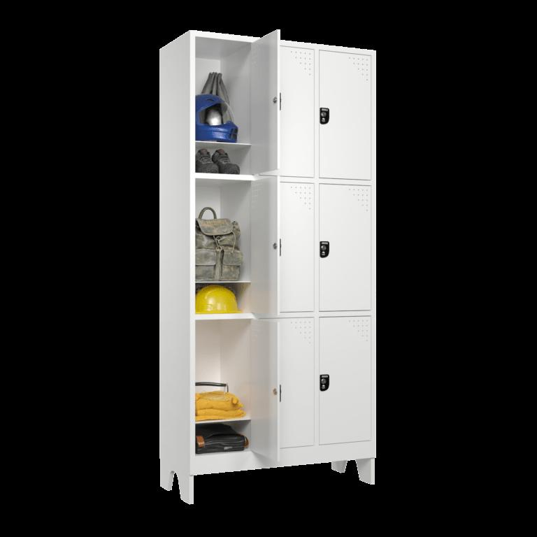 armario para vestiario macam brasil roupeiro 9 portas 3 portas por coluna 9 usuarios com prateleira lateral aberto 2000x2000 1