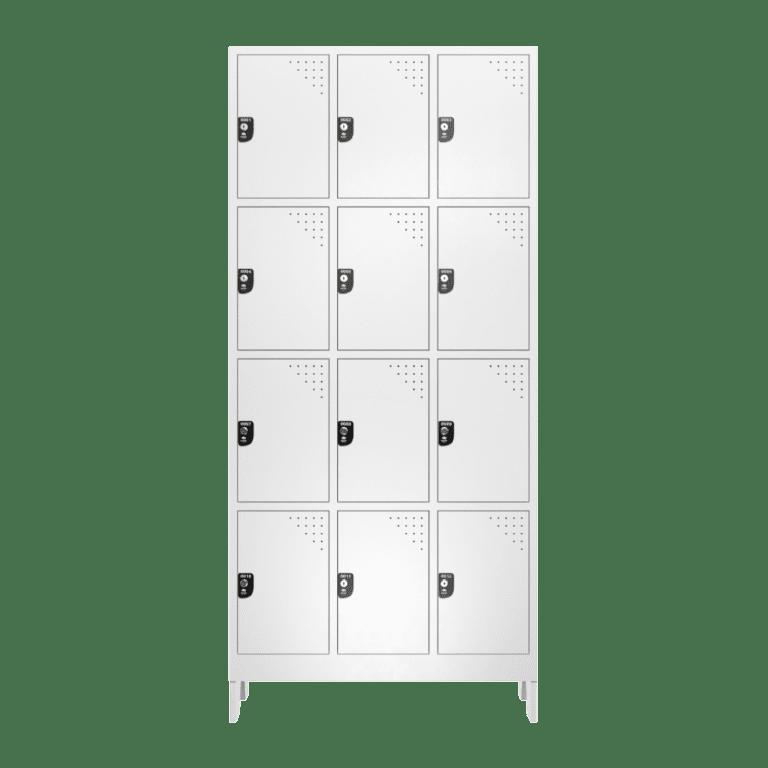 armario para vestiario roupeiro 12 portas 3 colunas 4 portas por coluna 12 usuarios frontal fechado 1000x1000 1