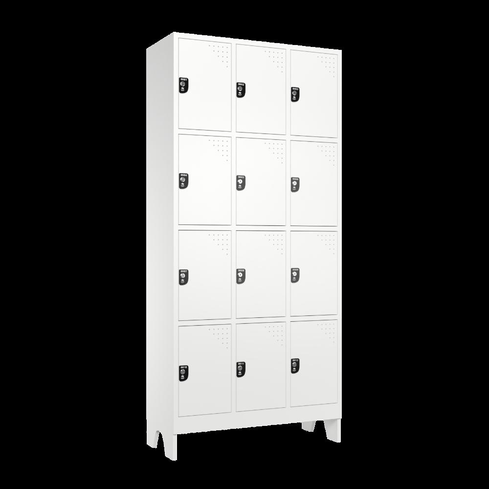 armario para vestiario roupeiro 12 portas 3 colunas 4 portas por coluna 12 usuarios lateral fechado 1000x1000 1