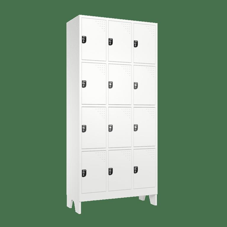 armario para vestiario roupeiro 12 portas 3 colunas 4 portas por coluna 12 usuarios lateral fechado 2000x2000 1