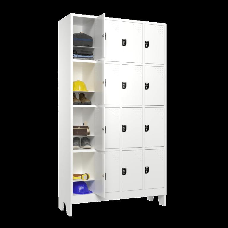 armario roupeiro para vestiario 16 portas 4 colunas 4 portas por coluna 16 usuarios 4x4 com 1 prateleira lateral aberto 1000x1000 1