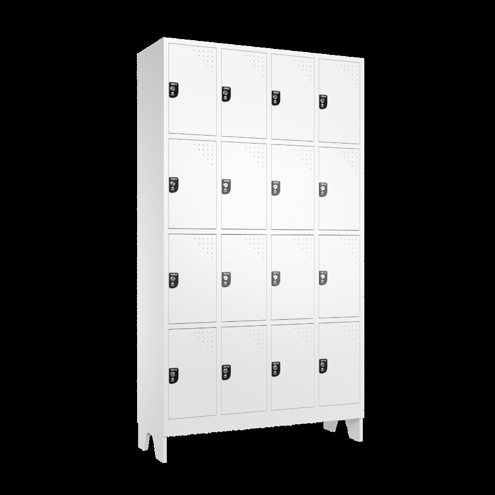 armario roupeiro para vestiario 16 portas 4 colunas 4 portas por coluna 16 usuarios 4x4 lateral fechado 1000x1000 1