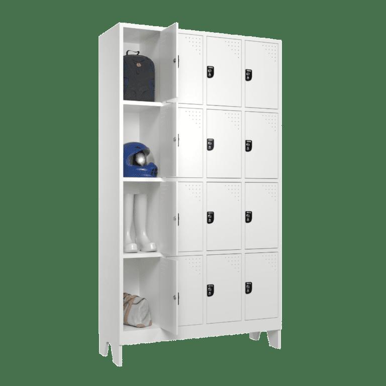 armario roupeiro para vestiario 16 portas 4 colunas 4 portas por coluna 16 usuarios 4x4 sem prateleira lateral aberto 1000x1000 1