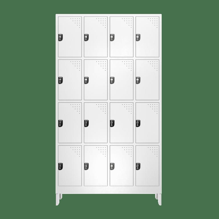armario roupeiro para vestiario 16 portas 4 colunas 4 portas por coluna 16 usuarios 4x4 frontal fechado 2000x2000 1