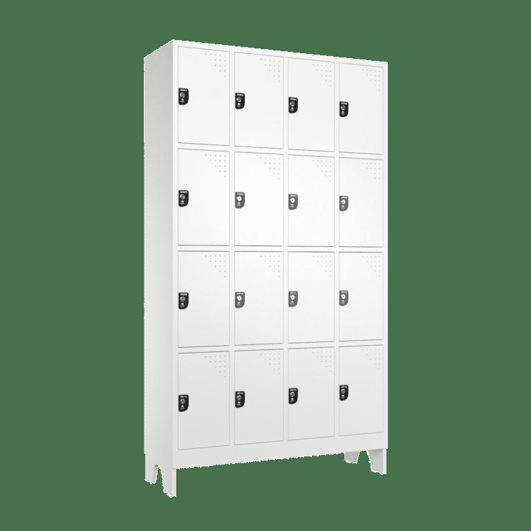armario roupeiro para vestiario 16 portas 4 colunas 4 portas por coluna 16 usuarios 4x4 lateral fechado 2000x2000 1