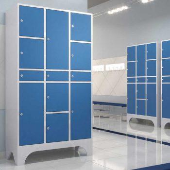 armario para vestiario azul personalizado macam brasil